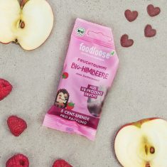Bio-Fruchtherzen - Apfel/Himbeere