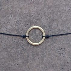 Make a wish Armband - Circle gold/black, von mint.