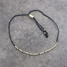 Armband Morse Code - STRENGTH gold/black, von mint.