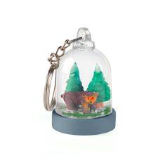 Schlüsselring - Mini-Schneekugel