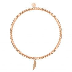 Kugelarmband, rosévergoldet - Feder