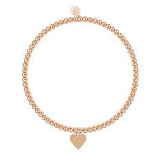 Kugelarmband, rosévergoldet - Herz
