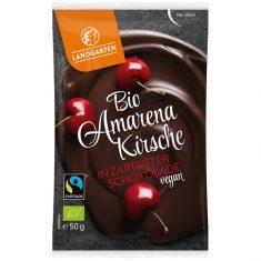 Naschfrüchte - Amarena Kirsche in Zartbitter-Schokolade, Bio