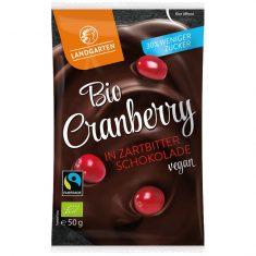 Naschfrüchte - Cranberry in Zartbitter-Schokolade, Bio