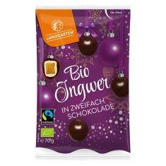 Weihnachtssnack - Ingwer in zweifach Schokolade, Bio