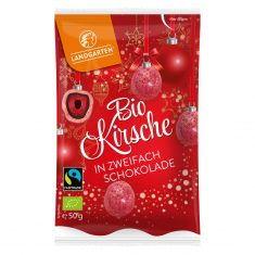 Weihnachtssnack - Kirsche in zweifach Schokolade, Bio