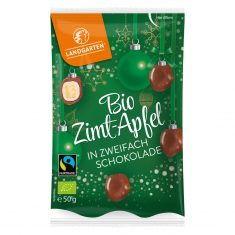 Weihnachtssnack - Zimt-Apfel in zweifach Schokolade, Bio