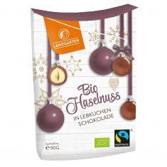 Weihnachtssnack - Bio Haselnuss in Lebkuchen-Schokolade