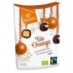 Weihnachtssnack - Bio Orange in Zartbitter-Schokolade, vegan