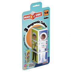 MAGICUBE - Jobs, 3 Magnetwürfel - B-WARE