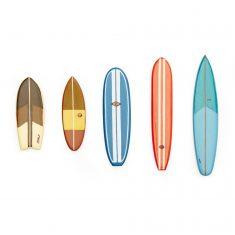 Surfbrett-Magnete - Surf's Up!, 5er-Set