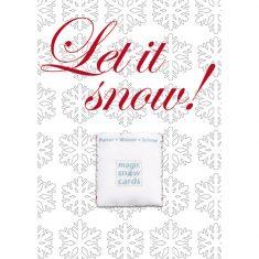 Magic Snow Postkarte - Let it snow!