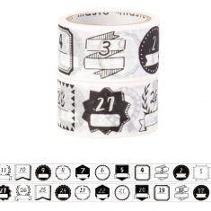 Masking Tape - Pre-cut - Date Handwriting Monochrome
