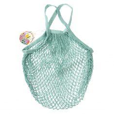 Netzeinkaufstasche aus Biobaumwolle - Duck Egg Blue