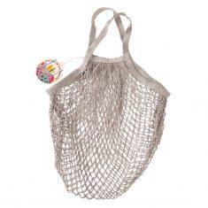 Netzeinkaufstasche aus Biobaumwolle - Pale Grey
