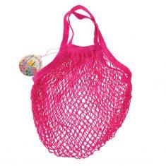 Netzeinkaufstasche aus Biobaumwolle - Pink
