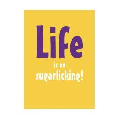 Notizheftchen - Life is no sugarlicking