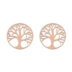 Ohrstecker, rosévergoldet - Baum des Lebens