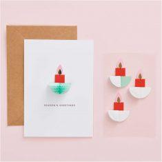 Paper Poetry Wabenpapier-Sticker - Kerzen