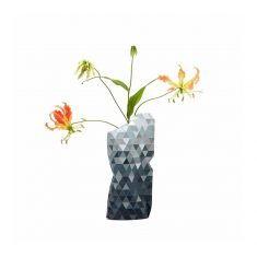 Paper Vase Cover - Papiervase - Grey Gradient