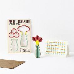 Grußkarte - Pop Out Decoration, Blumenstrauß
