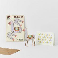 Grußkarte - Pop Out Decoration, Lama