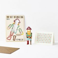 Grußkarte - Pop Out Decoration, Pirat