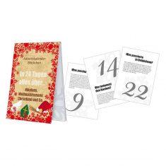 Adventskalenderblöckchen - Nikolaus, Weihnachtsmann & Christkind