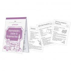 Rezeptblöckchen - 24 Rezepte - Marmelade, Likör und Eingemachtes