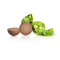 Schokoladenkugel, hellgrün - Vollmilchschokolade mit Lakritznougat