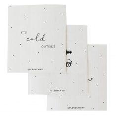 Schwammtücher - It's cold outside, 3er Set