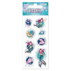 TapirElla Glitter-Tattoos - Meerjungfrau Coralie
