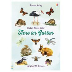 Sticker-Wissen Natur: Tiere im Garten