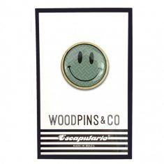 WoodPin Brosche - Smiley
