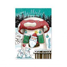 Zauberblöckchen Winterzauber - Nikolaus im Pilzhäuschen