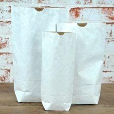 Adventman - Papiertüte Größe M, weiß