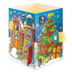 Adventslichtkalender-Karte - Weihnachtsdorf