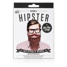 Aufblasbarer Bart - Hipster for the day