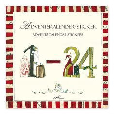 Aufkleberbuch - Adventskalender-Sticker
