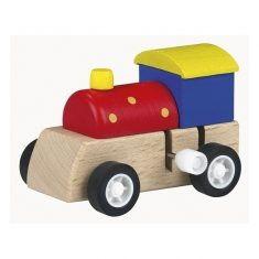 Aufziehfigur - Holz-Lokomotive