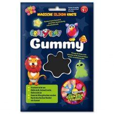 CrazyClay Gummy - Basic-Knete Schwarz
