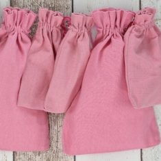Baumwollbeutel rosa, 6er-Set