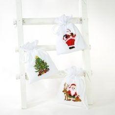 Baumwollbeutel - Weihnacht, 6er-Set