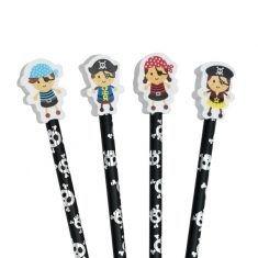 Bleistift mit Radiergummi - Pirates