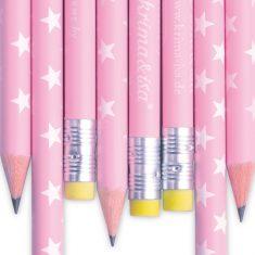 Bleistift - Sterne rosa