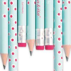 Bleistift - Tupfer türkis-rosa