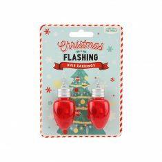 Blinkende Weihnachtskugel-Ohrringe