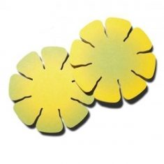 Blüten-Bierdeckel (Gelb Grün)