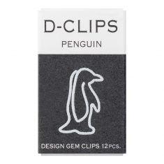 Büroklammern D-CLIPS - Penguin weiss, 12 Stück
