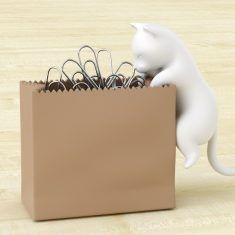 Büroklammern-Halter - Clip Cat